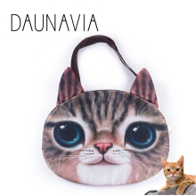 Cat 3d Crazy Sale! 2016 New Designed Spring Women Shoulder Bag Cat Shape Women Handbag Fashion Retro Women Bag Sling cat bag
