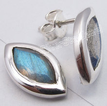 Silver Real LABRADORITE Cute Lightweight s Post Earrings 1.5CM1 Pair of  Earring