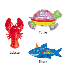1pcs/lot America Imported Jumbo Helium Inflatable Animal Lobster Turtle Shark Foil Balloon Party Supplies Balloons USA Imports.