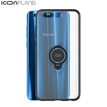 NEW For Huawei Honor 9 Case Transparent Ultra-thin Slim Silicone Anti-knock PC Skin Hard Honor 9 Capa Protective Cover(China)