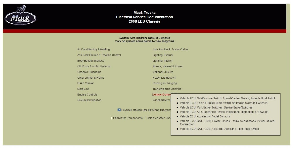 Mack Trucks Electrical Service Documentation 2007<br><br>Aliexpress