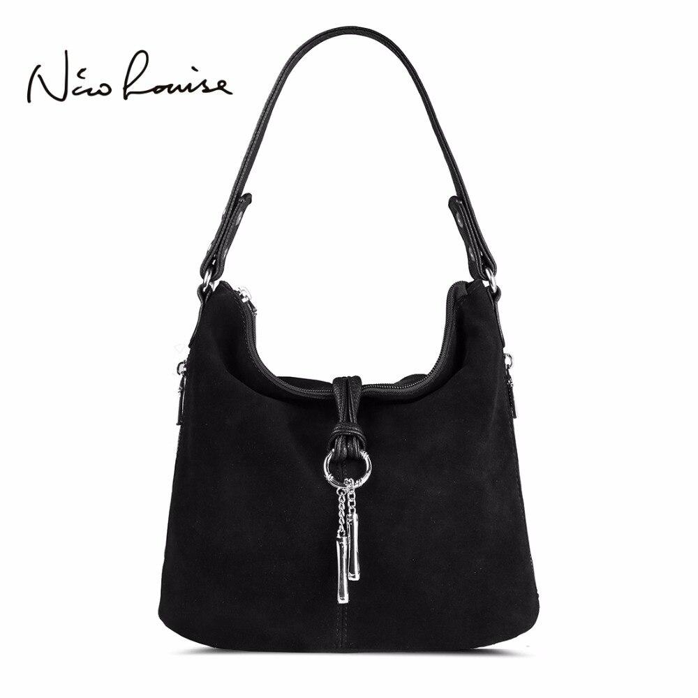 2017 Fashion Women Split Leather Shoulder Bag Female Suede Casual Crossbody handbag Casual Lady Messenger Hobo Top-handle Bags <br>