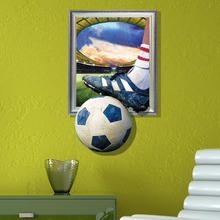 I love football Theme 3D wall stickers bedroom wallpaper 3D Football fans Painting World Cup theme murals Home Poster