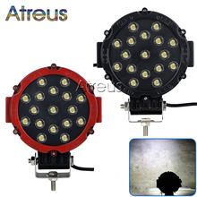 Atreus 2X 7Inch 51W Round Car LED Work Light 12V 24V 17X3W Spot For 4x4 Offroad Truck ATV Jeep Fog Lamp Car Styling accessories(China)