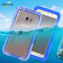 KISSCASE IP-68 Underwater Clear Dirt / WaterProof Swimming Case For Samsung Galaxy S6 / S6 Edge / S6 Edge Plus With Strap Cover