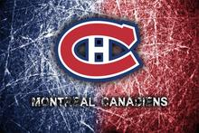 Custom Canvas Wall Decor Montreal Canadiens Poster Montreal Canadiens Mural NHL Logo Wallpaper Ice Hockey Wall Stickers #1471#