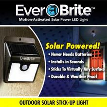 Free shipping Solar energy Ever Brite Solar Outdoor Stick Up Light! Motion Activated Lights As Seen On TV EverBrite(China)