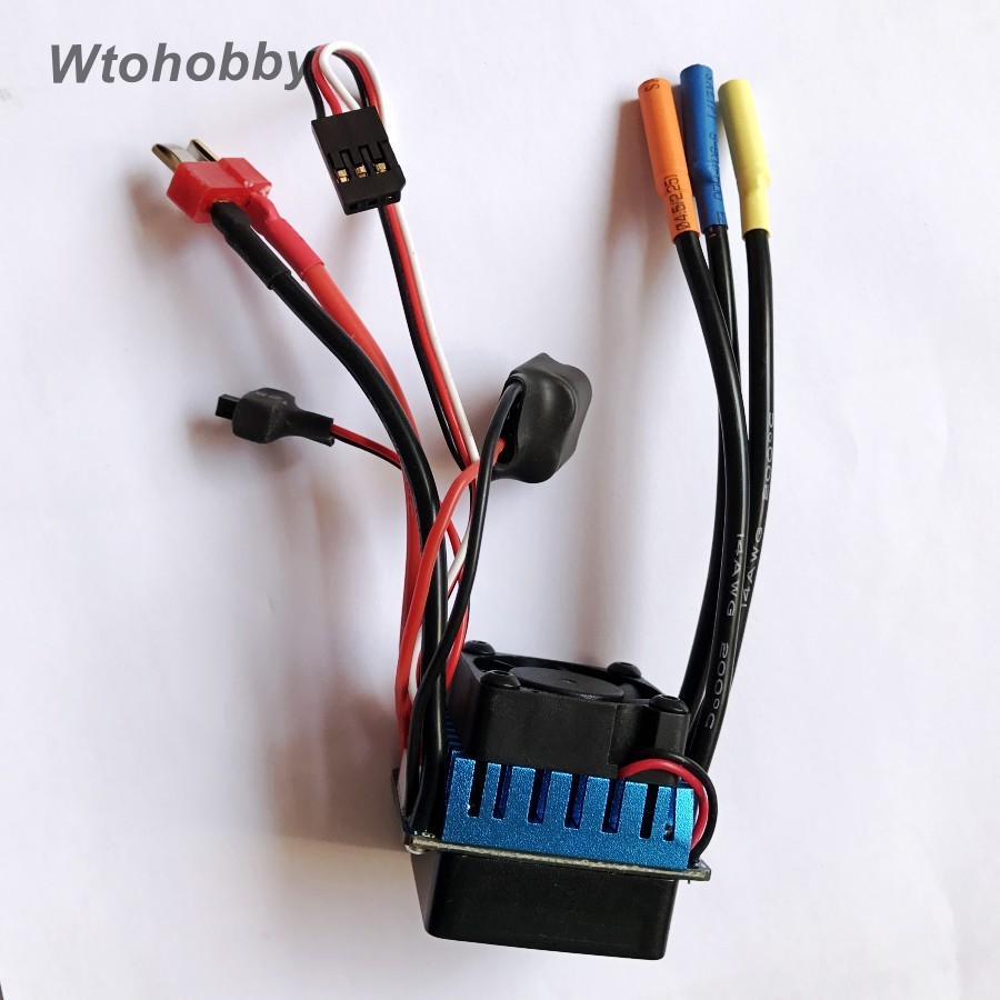 RC 1/10 Car Brushless ESC 60A Electric Speed Controller with 5.8V/3A SBEC for 1:10 RC Toy Car<br><br>Aliexpress