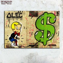 New lines Alec monopoly Graffiti arts print canvas for wall art decoration oil painting wall painting picture No framed R37(China)