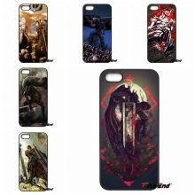 For iPhone 4 4S 5 5C SE 6 6S 7 Plus Galaxy J5 J3 A5 A3 2016 S5 S7 S6 Edge Japanese anime Berserk Mobile Phone Case Cover Capa