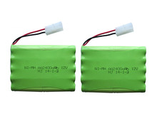 2pack 12v 2400mah ni-mh bateria 12v rc battery nimh battery pilas recargables 12v pack 10x aa size ni mh for rc car toy battery