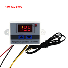 -50~110C Intelligent Digital Thermostat AC 220V 12V 24V 10A Digital Temperature Controller Regulator Switch(China)