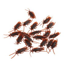 10/20pcs Prank Funny Trick Joke Toys Special Lifelike Model Simulation Fake Rubber Cockroach Cock Roach Bug Roaches Toy(China)
