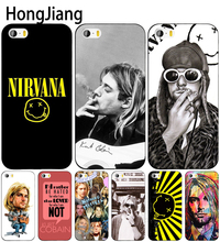 HongJiang Nirvana Kurt Cobain cell phone Cover case for iphone 6 4 4s 5 5s SE 5c 6 6s 7 8 plus case for iphone 7 X(China)