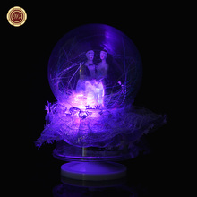 WR Fancy Wedding Gifts LED Snow Ball Romantic Christmas Gifts Music Box New Year Home Decor DIY Christmas Gift