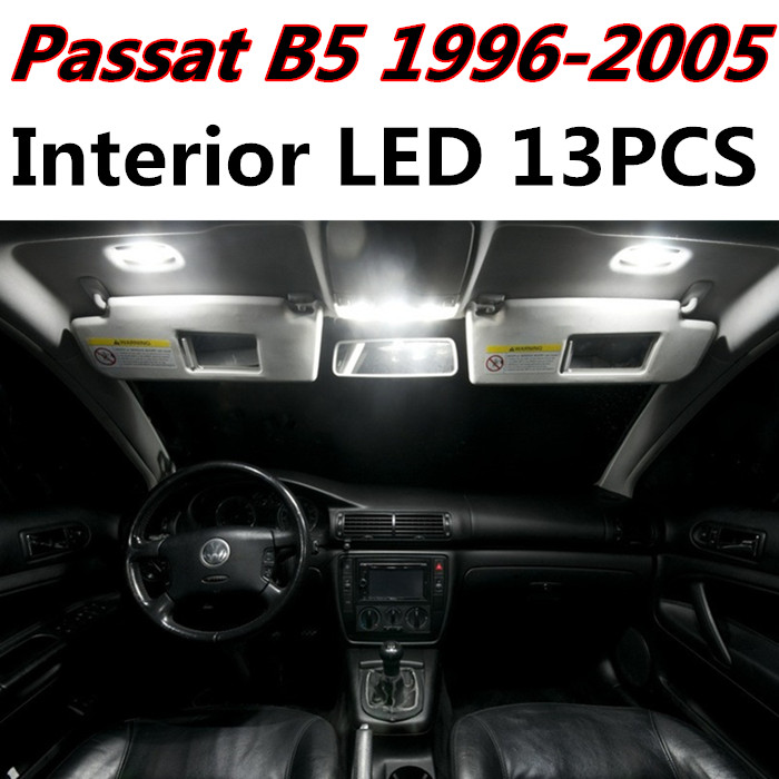 13pcs X free shipping Error Free LED Interior Light Kit Package for VW Passat B5 accessories 1996-2005<br><br>Aliexpress