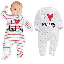 I love daddy clothes Long Sleeve Love Mommy Style Baby Girl Boy Winter Clothing New Born Body Baby Ropa Next Baby Bodysuit
