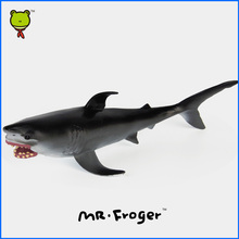 Mr.Froger White Shark Model Toy Aquatic Creatures Soft Wild Animals Toys Set Zoo Modeling Plastic Sea Lift Fish Simulation model