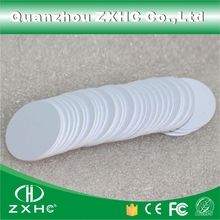 (10pcs/lot) RFID 125KHz 25mm T5577 Rewritable Coin Cards Tag For Copy Round Shape PVC Material(China)