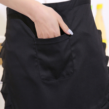 Unisex Kitchen Cooking hotel chef aprons chef uniforms Waist Apron Short Apron Waiter Apron with Pocket