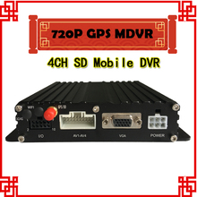 Free shipping Mobile DVR AHD 720P 4channel Car dvrwith GPS function 4CH car video recorder(China)
