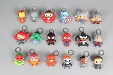 Marvel Ironman Spiderman Thor 3-D Car House Figural Keychain Keyring