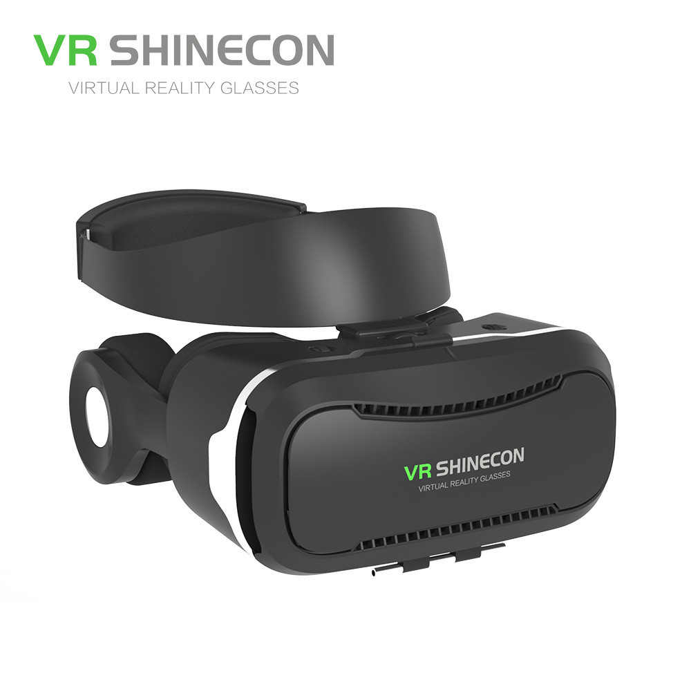 Excellent With Headset Glasses VR Shinecon Comfortable VR Box with Headset Luxury VR Box With Bluetooth Controller<br><br>Aliexpress
