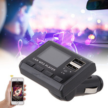 2016 Brand New Car Music MP3 Player FM Transmitter Modulator Dual USB Charging SD MMC Remote Comfortable Natural