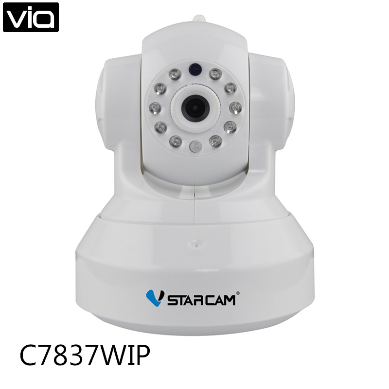 Vstarcam C7837WIP Free Shipping  Black IP CCTV 720P Camera IR-Cut Night Vision Audio Surveillance LAN WiFi Security Camera<br>