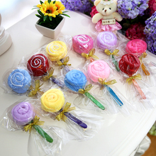 Mini Lollipop Shape Wash Cloth Cake Ornament Towel Present Wedding Party Favor Gift(China)