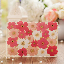 1pcs Sample Colorful Flower Laser Cut Marriage Wedding Invitation Cards 3D Card Greeting Cards Postcard Event Party Supplies
