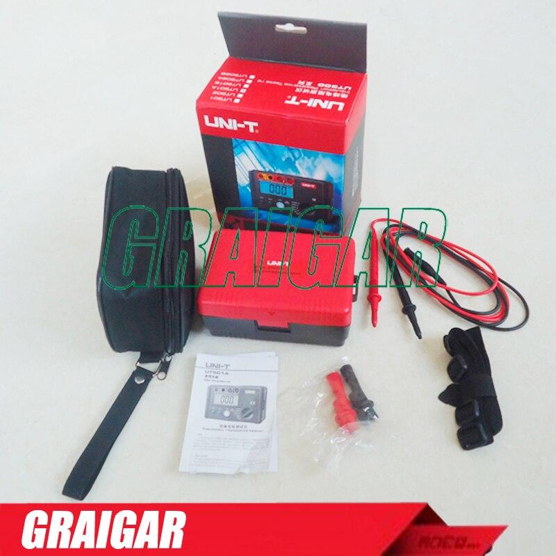 UNI-T UT501A 1000V Insulation Resistance Meter Ground Megohmmeter Voltmeter w/LCD Backlight Digital Earth Tester Megger<br><br>Aliexpress