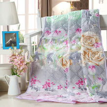 Home Quilt/printed summer thin comforter/Filled with synthetic fibers Twin Queen King Full size Duvet / Blanket / white / pink