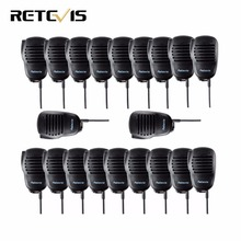 20pcs PTT Mini Speaker MIC Microphone For Kenwood Retevis H777 RT5 RT3 BAOFENG UV-5R 888S TYT Walkie Talkie Hf Transceiver C9021(China)