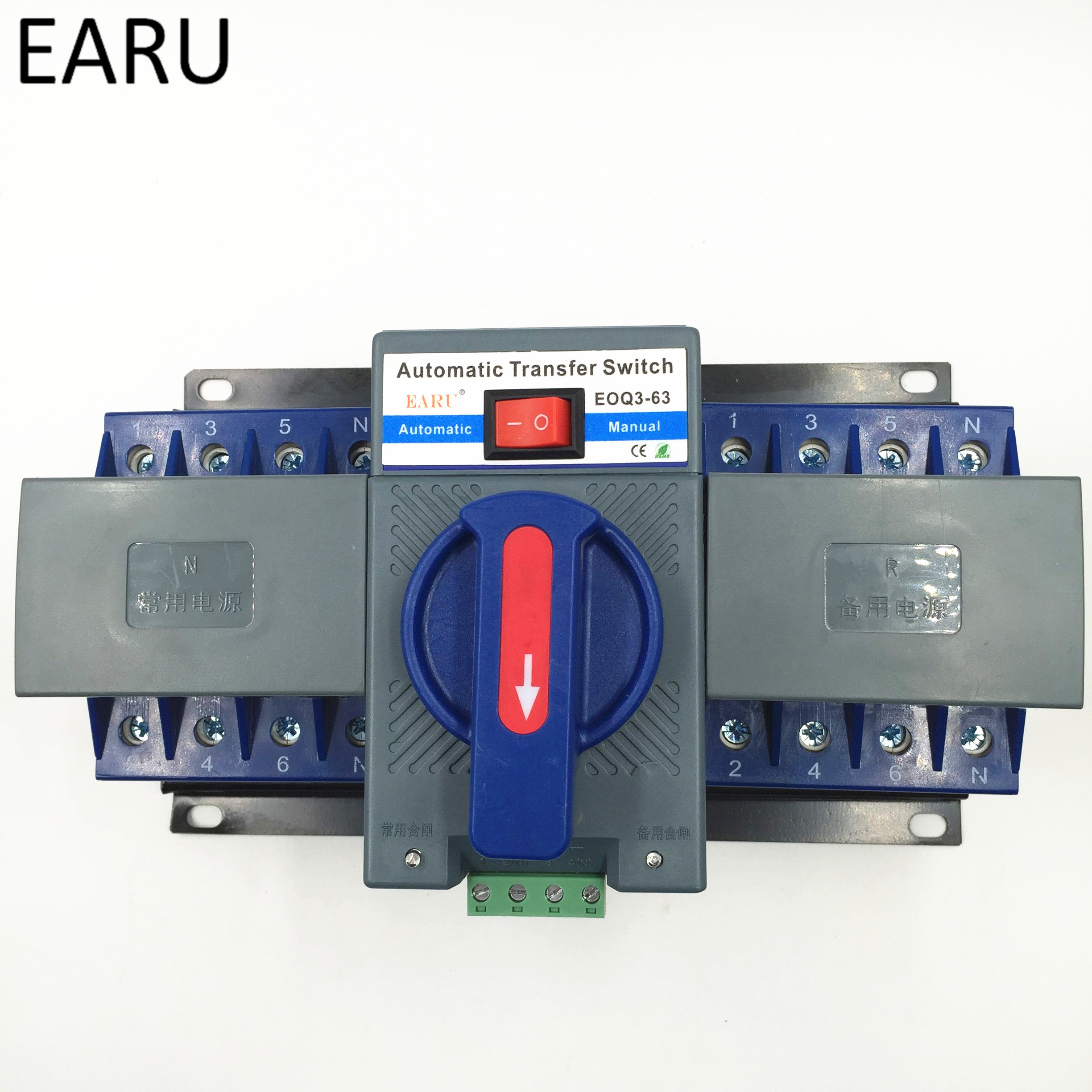 4p 63a 380v Mcb Type Dual Power Automatic Transfer Switch Ats Ates Auto Shut Off Tone Generator Circuit For Photovoltaic Pv System Battery Ce Certificated