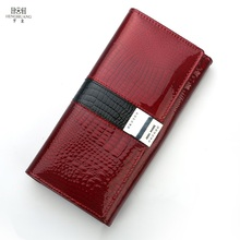 2017 new women wallets genuine leather long purse luxury brand women wallet ladies real leather coin purse with gift box