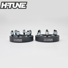 "H-TUNE 4PCS Forged Aluminum Black 1.2"" Thick 6x114.3 66.1CB Wheel Spacers fit for Navara D40 Forntier Pathfinder Xterra(China)"