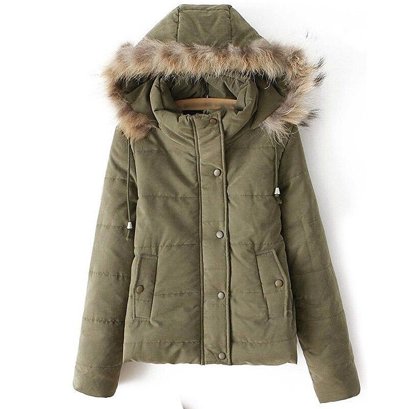 Super Deal Down Parkas 2017 Autumn Korean Women Fashion Jackets Fur Hooded Slim Cotton Coat Thick Warm Outerwear Hot SaleОдежда и ак�е��уары<br><br><br>Aliexpress