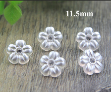 30pcs/lot Size:11.5mm Rhinestone embellishment plastic buttons,flower shape button for garment(ss-4497)