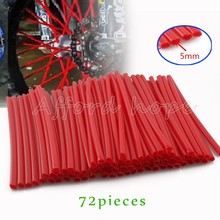 72pcs Motorcycle Motocross Dirtbike Wheel Rim Wrap Cover Kit Skin Covers Universal Fit Black, Blue, Red