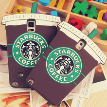 3D Cartoon Starbuck Coffee Cup Silicone Case For Samsung Galaxy S3 S4 S5 neo S6 edge J5 J7 2016 Grand Prime Grand neo Plus Note3