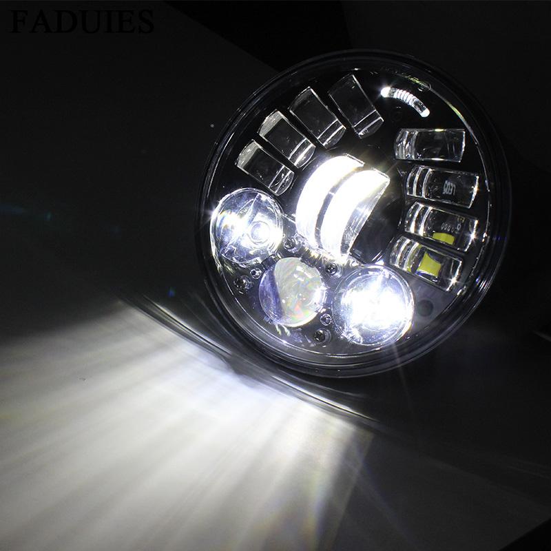 FADUIES 2018 New 5.75 inch Motorcycle Adaptive Cornering Led headlight For Harley 5-34 Motorcycle Black Projector Daymaker (7)