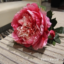 High quality 8pcs/lot giant chinese artificial peony flowers large tall decorative standing peony flowers free shipping(China)