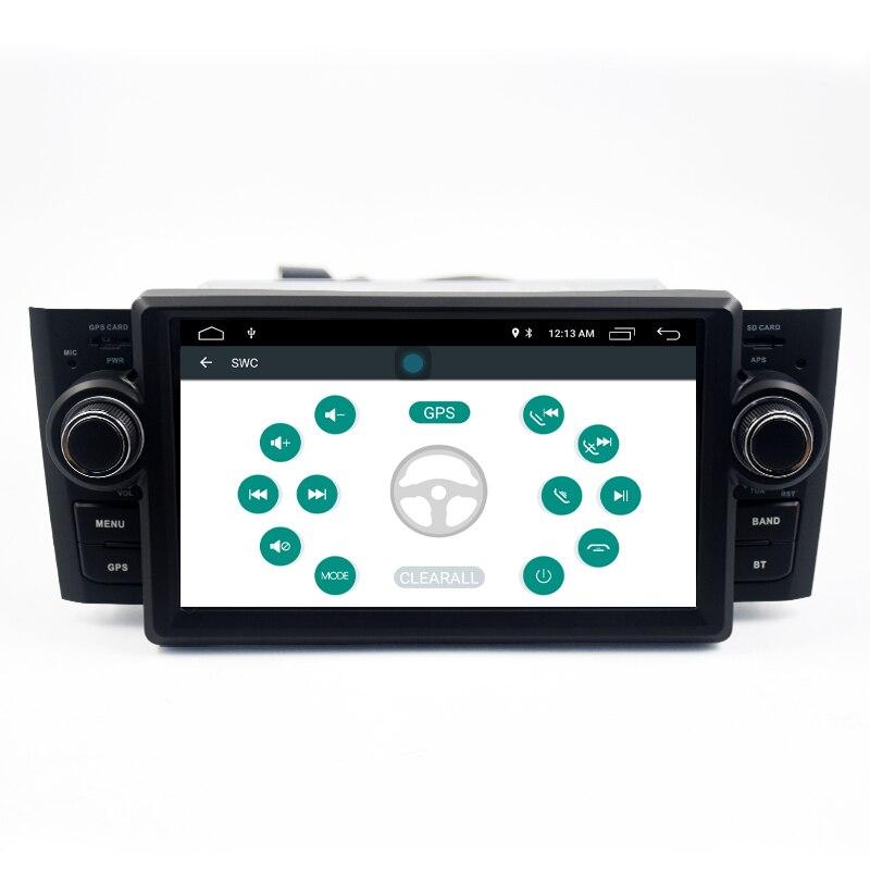 Car Multimedia player GPS Android 7.1.1 Car Radio 1 Din DVD Automotivo For FiatGrandePuntoLinea 2007-2012 Radio FM DSP output