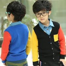 Spring/Autumn Fashion Boys Sweaters Kids Cardigans Children Outerwear Baby Toddlers Clothes New 2016 T2DBO