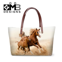 Fashion Horse Print Tote Bags Large Capacity Women Handbags Animal Casual Lady Shoulder Bags Big Top Handle Bags Bolsas Mujer(China)
