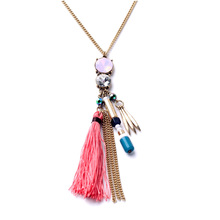 Wholesale Jewelry Manufacturer Direct Selling Long  All Mathc Tassel Bohemian Necklace