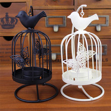 Vintage Candle Holder Romantic Candlestick Home Party Wedding Home Decor candleholder bird cage style metal candelabrum on asle