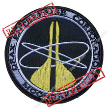 "3.5"" MOONRAKER James Bond 007 Patch DRAX ENTERPRISE CORP Logo TV Movie Film Series applique sew on iron on patch Wholesale"