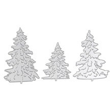 3pcs Christmas Tree Metal Die Cutting Dies for Scrapbooking Photo Album Decorative Embossing Folder Stencil